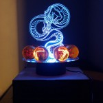 Lampara led con dragon y esferas de 4.3cms