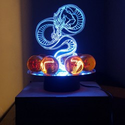 Lampara led con dragon y esferas de 4.3cms