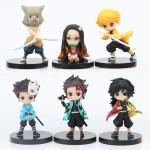 Set de 6 minifiguritas Kimetsu no Yaiba