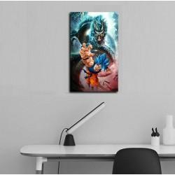 Cuadro Goku Blue con shenlong 50x30cms