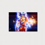 Cuadro Goku ultra instinto fuego 60x40cms