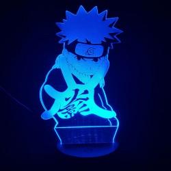Lampara de acrilico Naruto Niño mano al frente