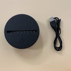Base led touch para lamparas de acrílico
