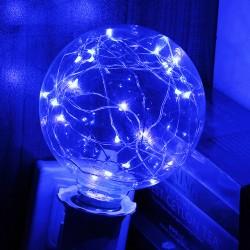 Bombilla de alambre LED color azul