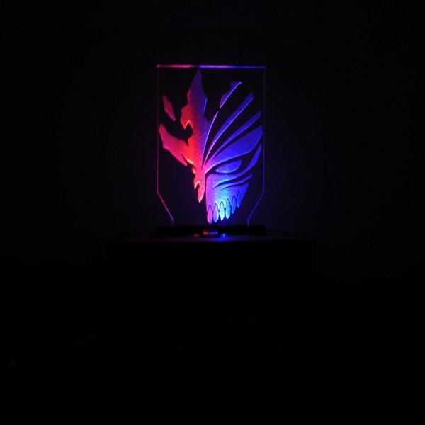 Caja de mdf con luz led y logo Bleach