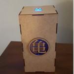 Figura Broly de 21cms + caja de mdf con luz led