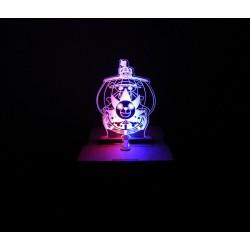 Caja de mdf con luz led y logo barco de Luffy one piece