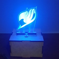 Caja MDF con luz y logo Fairy Tail