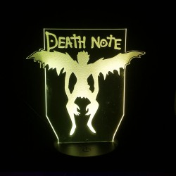 Lampara de acrilico Death Note