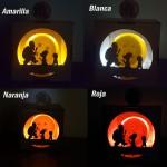 Esfera de 7.6cms con caja mdf y luz led