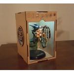 Figura goku niño con shenlong + caja mdf con luz