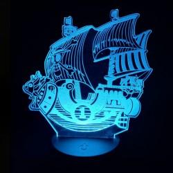Lampara de acrílico Barco de Luffy (Thousand Sunny)