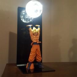 Lampara Goku genkidama saiyajin figura 23cms