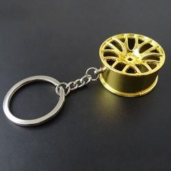 Llavero aro de carro dorado 3.5cms.