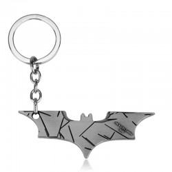 Llavero batarang plateado (batman)