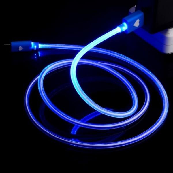 Cable usb con luz led en las puntas