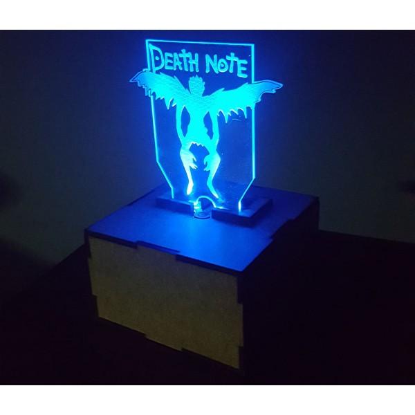 Cajita mdf con luz led y logo Death Note