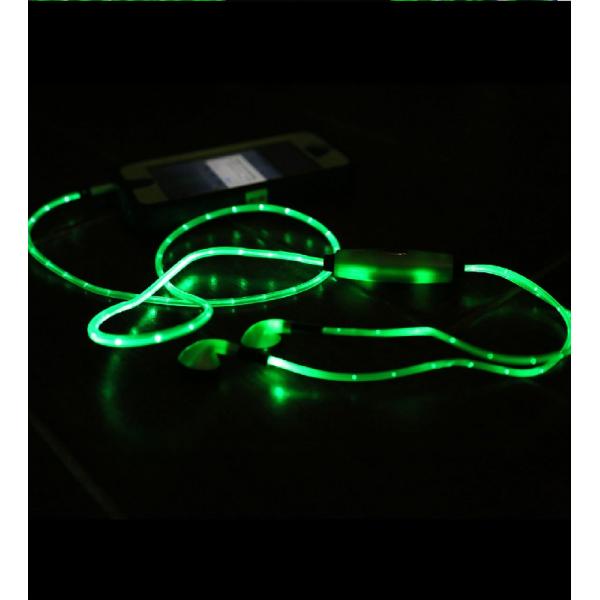 Auriculares Led color verde