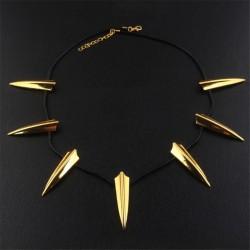 Collar Dorado Pantera Negra